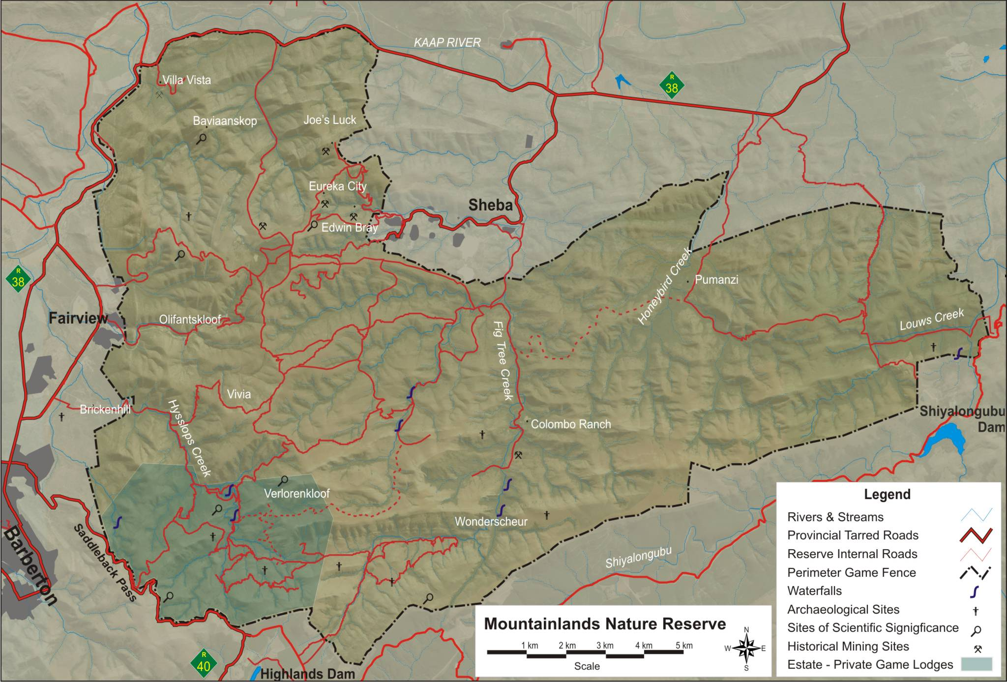 Mountainlands Reserve Map